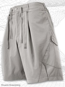 <strong>MELSIGN®</strong>Double-Drawstring Shorts<br>IVORY