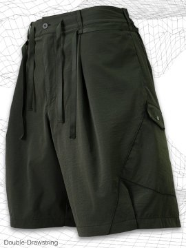 <strong>MELSIGN®</strong>Double-Drawstring Shorts<br>OLIVE