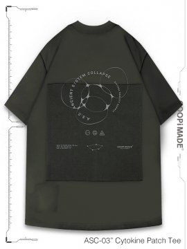 """<strong>GOOPiMADE</strong>""""ASC-03"""" Cytokine Patch Tee<br>TAUPE"""