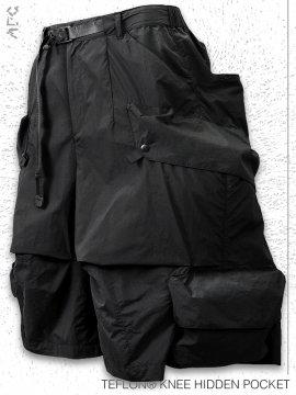 <strong>ARCHIVAL REINVENT</strong>TEFLON® KNEE HIDDEN POCKET SHORTS<br>BLACK