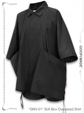 """<strong>GOOPiMADE</strong>""""GNV-01"""" Soft Box Oversized Shirt<br>BLACK"""