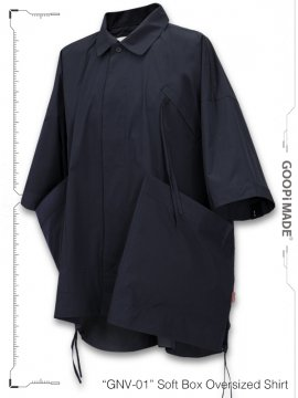 """<strong>GOOPiMADE</strong>""""GNV-01"""" Soft Box Oversized Shirt<br>NAVY"""