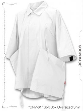 """<strong>GOOPiMADE</strong>""""GNV-01"""" Soft Box Oversized Shirt<br>WHITE"""