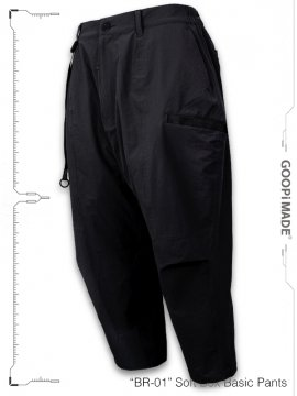 """<strong>GOOPiMADE</strong>""""BR-01"""" Soft Box Basic Pants<br>MIDNIGHT NAVY"""