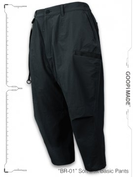 """<strong>GOOPiMADE</strong>""""BR-01"""" Soft Box Basic Pants<br>BATHYAL"""