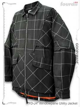 """<strong>GOOPiMADE x 4DIMENSION</strong>""""FD-J4"""" Windowpane Utility Jacket<br>GRAY"""