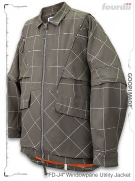 """<strong>GOOPiMADE x 4DIMENSION</strong>""""FD-J4"""" Windowpane Utility Jacket<br>SAND"""