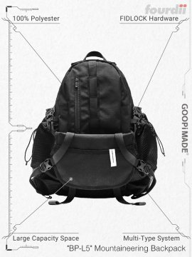 """<strong>GOOPiMADE x 4DIMENSION</strong>""""BP-L5"""" Mountaineering Backpack<br>BLACK"""