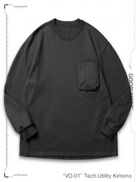 """<strong>GOOPiMADE</strong>""""TYPE-X"""" 3D L/S Pocket Tee<br>IRON"""