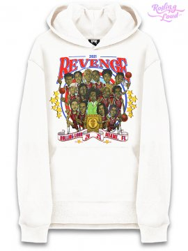 <strong>REVENGE GALLERY</strong>REVENGE ROLLING LOUD WHITE SWEAT HOODIE<br>WHITE