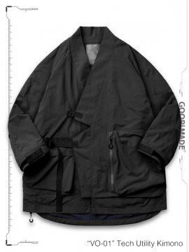 """<strong>GOOPiMADE</strong>""""VO-01"""" Tech Utility Kimono Jacket<br>SHADOW"""