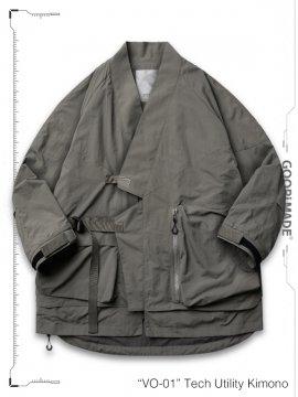"""<strong>GOOPiMADE</strong>""""VO-01"""" Tech Utility Kimono Jacket<br>L-SEPIA"""