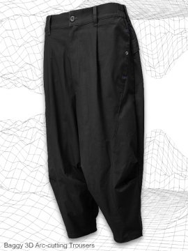 <strong>MELSIGN®</strong>Baggy 3D Arc-cutting Trousers<br>BLACK