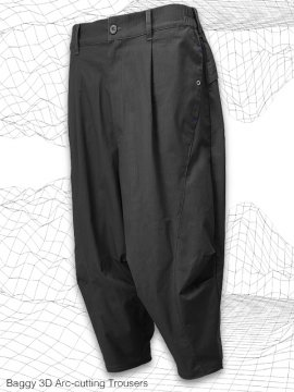 <strong>MELSIGN®</strong>Baggy 3D Arc-cutting Trousers<br>GRAY