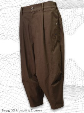 <strong>MELSIGN®</strong>Baggy 3D Arc-cutting Trousers<br>BROWN
