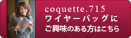 coquette715 ワイヤーバッグ