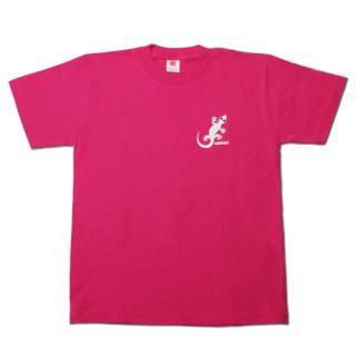 ヤモさんTシャツ(後3匹 ピンク×白)