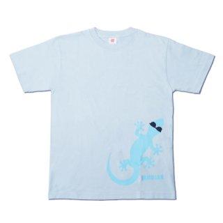 ヤモさんTシャツ(前1匹 サックス×青)