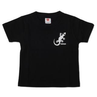 ヤモさんTシャツ キッズ(黒×白)