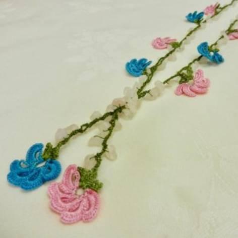 トルコの伝統手刺繍<br>オヤ・ロングネックレス