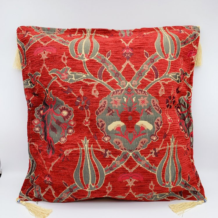 Cushion cover クッションカバー_Tulip Red