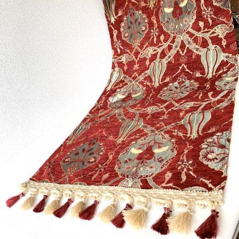 テーブルセンター<br>Tulip Red(約45�×約100�)