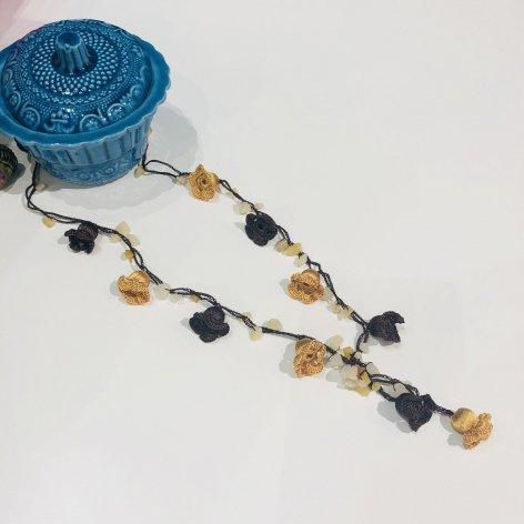 トルコの伝統手刺繍オヤ・ロングネックレス
