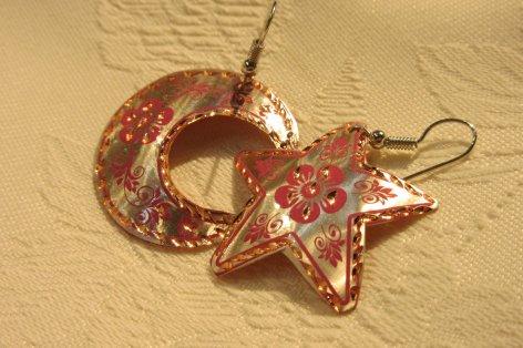 Copper ピアス(ゴールド・トルコ国旗デザイン)
