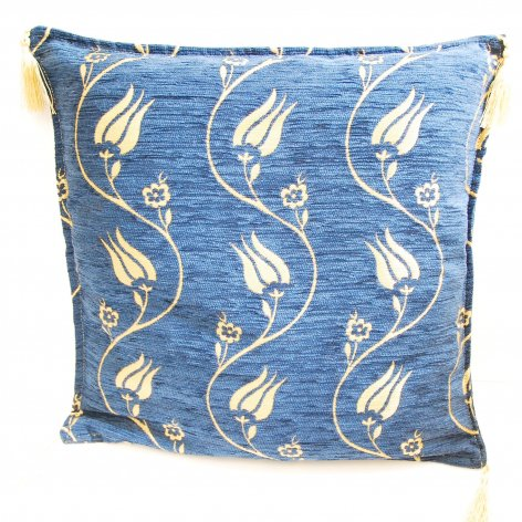 Cushion cover クッションカバー_Simple Tulip Navy Blue