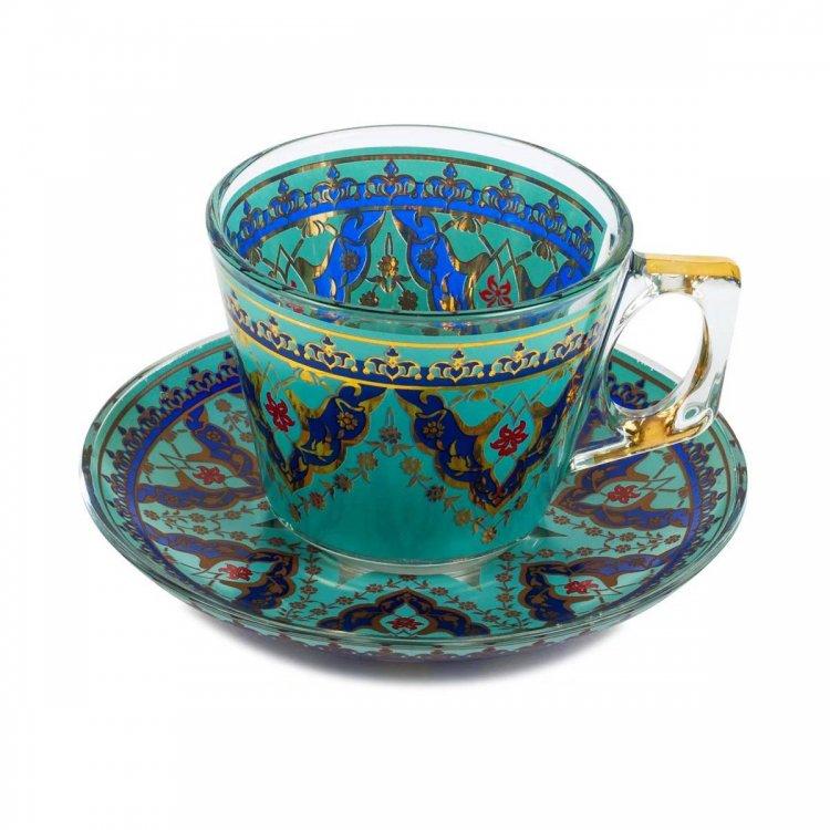 カップ&ソーサー(PASABAHCE)<br>Best Turquoise Blue
