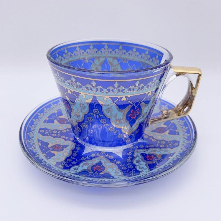 カップ&ソーサー(PASABAHCE)<br>Best Royal Blue