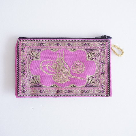 ポーチ小<br>オスマン皇帝スルタンの花押 Pink