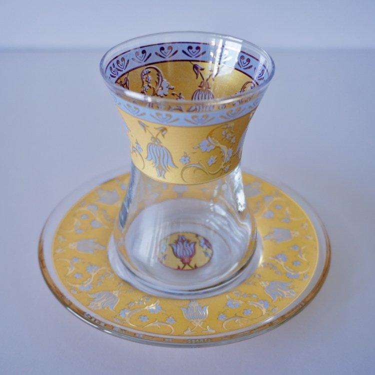 チャイグラス<br>Tulip Yellow(ハンドルなし)