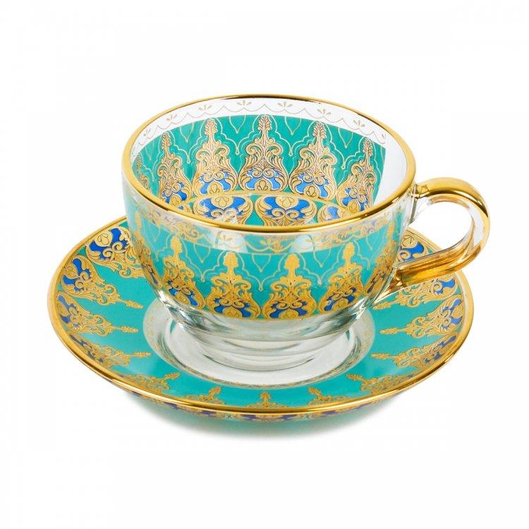 カップ&ソーサー(TALIA)<br>Violin Turquoise Blue
