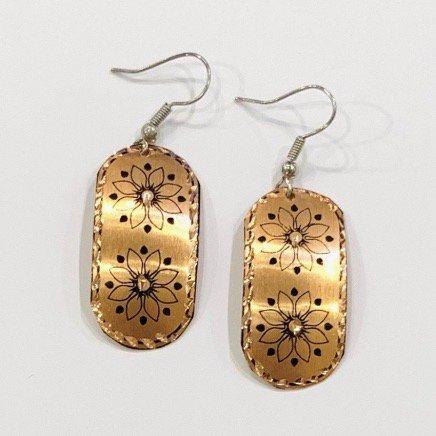 Copper ピアス<br>Rectangle Gold