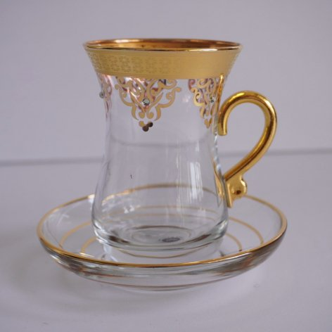 Chai glass チャイグラス Stone Gold
