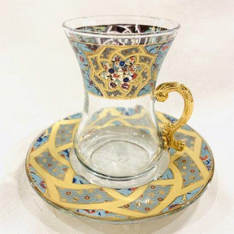 チャイグラス<br>Carnation Turquoise Blue