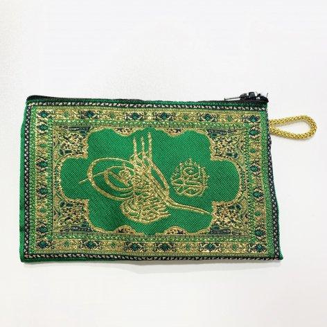 ポーチ小<br>オスマン皇帝スルタンの花押 Green