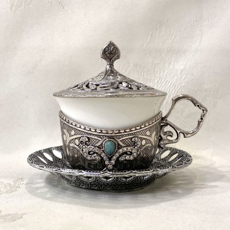 デミタスカップ&ソーサー<br>Silver TB