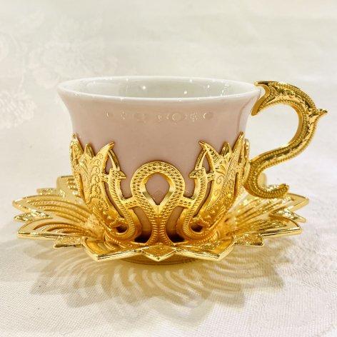 デミタスカップ&ソーサー<br>Gold Tulip Pink