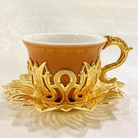 デミタスカップ&ソーサー<br>Gold Tulip Orange