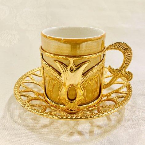 デミタスカップ&ソーサー<br>Gold Tulip Yellow