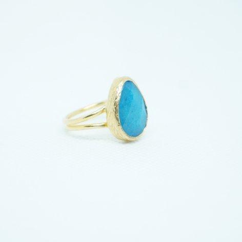 トルコ 天然石リング<br>Drop Blue