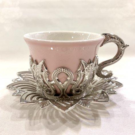 デミタスカップ&ソーサー<br>Silver Tulip Pink