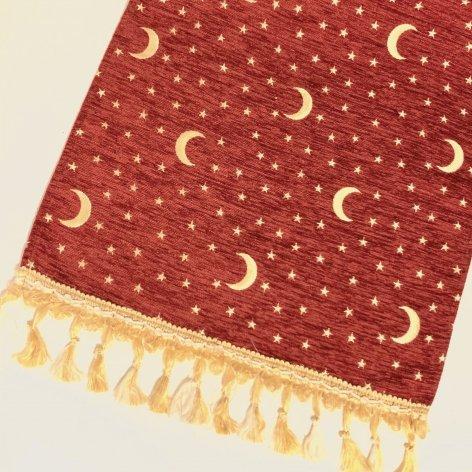 テーブルセンター<br>Moon Red(約45�×約145�)