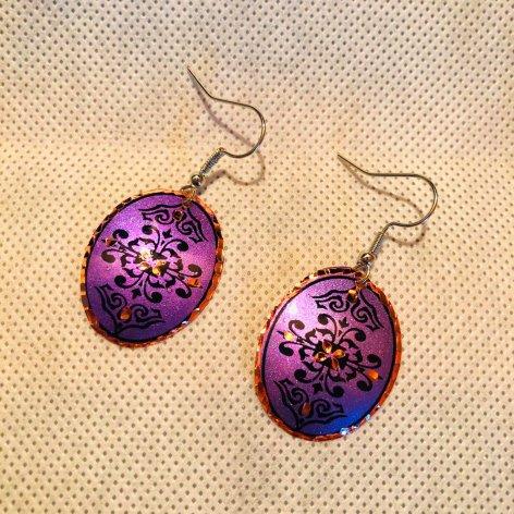 Copper ピアス<br>Oval Purple