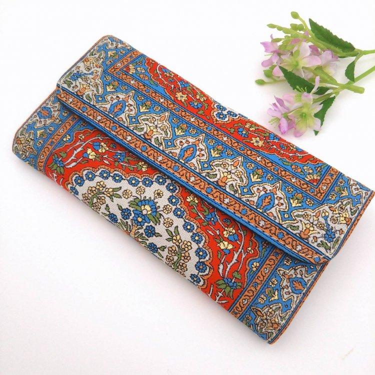 長財布(三つ折り)<br>Flower Blue