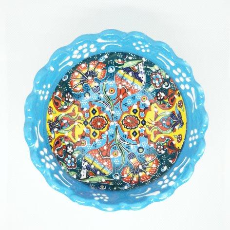 デコレーションボウル(M)<br>Light Blue×Turquoise Blue