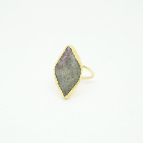 トルコ 天然石リング<br>Gray