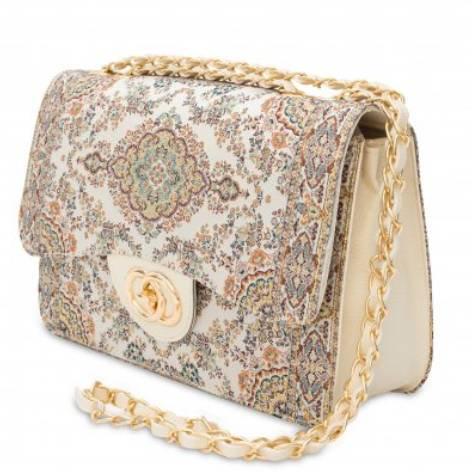イスラム柄2Way Bag<br>Elegant Cream×Blue